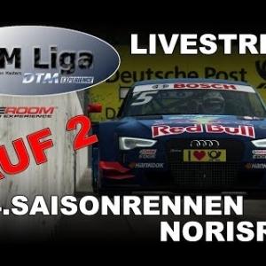 RaceRoom | VTM Liga | 4. Saisonrennen |  Lauf 2 | Norisring (LIVE)
