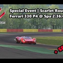 Assetto Corsa   Special Event Scarlet Rouge   Achievement Gold   Ferrari 330 P4 @ Spa 2:36:678 min