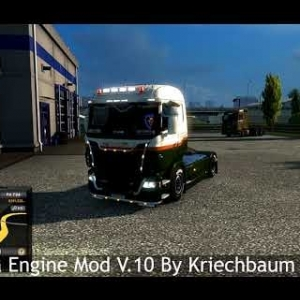 Euro Truck Simulator 2 - Scania V8 Straight Pipe Mod/Real Engine Comparison