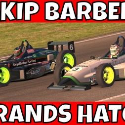 Fun battle in the Skip Barber at Brands Hatch