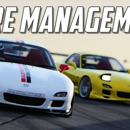 TYRE MANAGEMENT - Simracing System RX-7 Tuned Donington - [WEEABOO GP] - Assetto Corsa - Socks cam