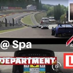 Assetto Corsa - RaceDepartment GT3 race @ Spa - LIVE!