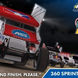 """""""iRacing: Learning that High Line"""" (360 Winged Sprint Car at Knoxville Speedway)"""