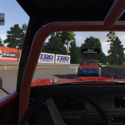 Very first race from first RaceDepartment Wreckfest event