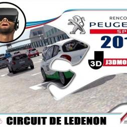 CHAMPIONNAT 208 RC 2018 : CIRCUIT DE LEDENON [VR OCULUS RIFT]