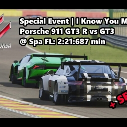 Assetto Corsa | Special Event I Know You Missed Me! | Porsche 911 GT3 R @ Spa FL: 2:21:687 min