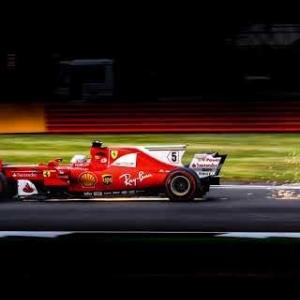 Vettel Tyre Failure! - 2017 British GP - Grandstand Footage