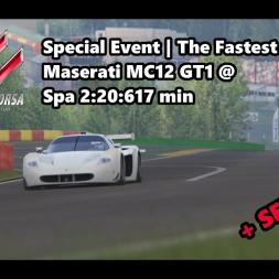 Assetto Corsa | Special The Fastest One | Achievement Gold | Maserati MC12 GT1 @ Spa 2:20:617 min