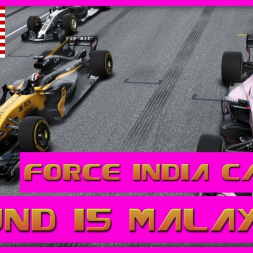 F1 2017 Career Mode Force India - Round 15 Malaysia  - Fun In Midfield Town