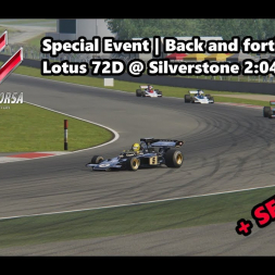 Assetto Corsa | Special Event Back and forth | Lotus 72D @ Silverstone 2:04:016 min
