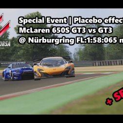 Assetto Corsa | Special Event Placebo effect | McLaren 650S GT3 @ Nürburgring FL: 1:58:065 min
