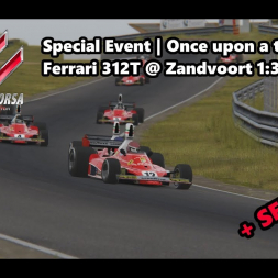 Assetto Corsa | Special Event Once upon a time | Ferrari 312T @ Zandvoort 1:38:146 min