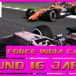 F1 2017 Career Mode Force India - Round 16 Japan  - Going Long