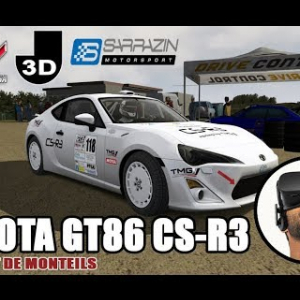 TOYOTA GT86 CS-R3 - Circuit de MONTEILS [Vidéo VR Oculus Rift]