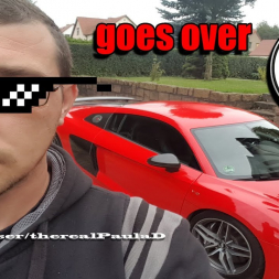 Paul goes over 300km/h with Audi R8 V10plus