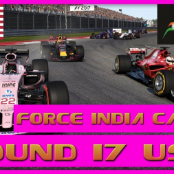 F1 2017 Career Mode Force India - Round 17 USA  - Desperate Defense