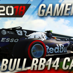 F1 2018SM  Red Bull RB14 Camo Livery Gameplay