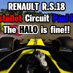 AC RENAULT R.S.18 + 2018 FRENCH GP + THE HALO IS FINE!!