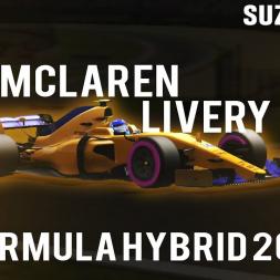 Assetto Corsa | 2018 McLaren livery Suzuka lap - Formula hybrid 2017