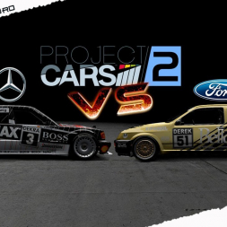 PROJECT CARS 2 Mercedes 190E Vs Sierra Cosworth RS 100% AI Strength in Zolder