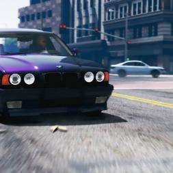 GTA 5 - BMW M5 E34 mod - Street Drift - Redux 1.3 4k
