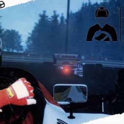 Rfactor2 Mixed Reality Ayrton Senna rain condition at Spa DX11