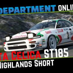 Toyota Celica ST185 @ Highlands Short / Assetto Corsa / RaceDepartment