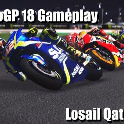 MotoGP 18 Gameplay - Alex Rins Losail Qatar - 4k