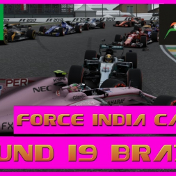 F1 2017 Career Mode Force India - Round 19 Brazil  - A Lucky Break