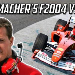 Driving Michael Schumacher's Ferrari F2004 at Nordschleife   Assetto Corsa VR