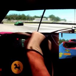rF2 - Road America - Ferrari 488 GT3 - 2 in a row 100% AI race
