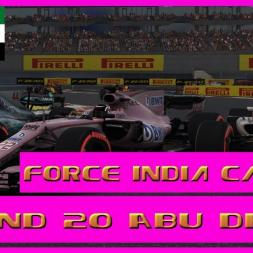 F1 2017 Career Mode Force India - Round 20 Abu Dhabi  - Season 1 Finale