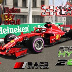Assetto Corsa * Formula Hybrid 2018 * Azerbaijan GP * 1:37:413 [hotlap + setup]
