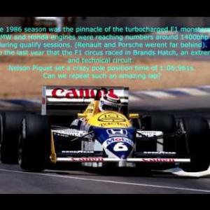 Assetto Corsa @ Brands Hatch 1986 Williams Fw11 Pole position