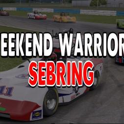 Well done Robert, good start - Weekend Warriors @ Sebring