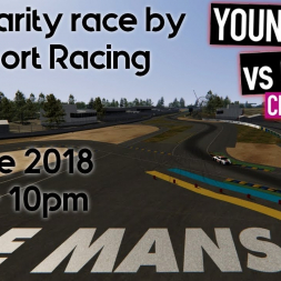 """Practice lap for the Charity Race """"12 hours of Le mans"""" by SimSport Racing"""
