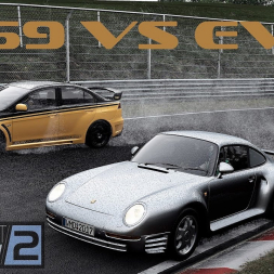 Project CARS 2: Porsche 959 vs EVO at the Nordschleife!