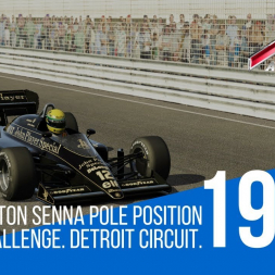 Assetto Corsa - 1986 Lotus 98t Detroit Senna Pole Position Challenge