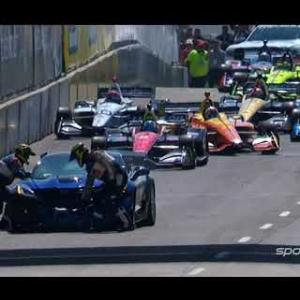 2018 IndyCar Dual in Detroit Race 2 Pace Car Crash