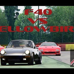 Assetto Online: RUF Yellowbird vs Ferrari F40 at SPA!