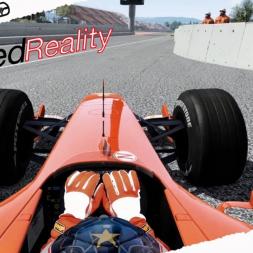 Assetto Corsa Mixed Reality Rubens Barrichello Ferrari F2004 in Barcelona