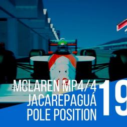 Assetto Corsa - McLaren mp4/4 @ Jacarepaguá Ayrton Senna 1988 Pole Position