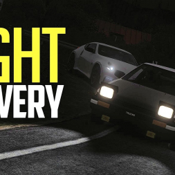 Night Tofu delivery - Assetto Corsa Touge VR
