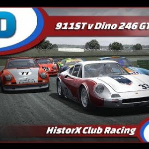 RaceDepartment HistorX Porsche 911 Vs Ferrari Dino @ Phillip Island GP