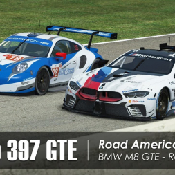 rFactor 2 - Studio 397 GTE - Road America (35 cars) - Race 2/2