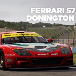 Ferrari 575 GTC / Donington Park / Assetto Corsa / Cockpit + Replay
