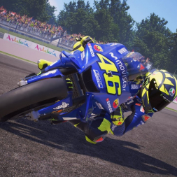 MotoGP 18 Valentino Rossi Gameplay Sanchering 4k