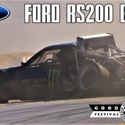Ford RS200 Pikes Peak crashes at Goodwood Festival of Speed - Grandstand Footage