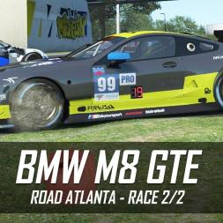rFactor 2 - BMW M8 GTE - Road Atlanta (37 cars) - RD Club Race 2/2