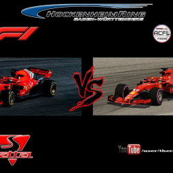 F1 2018 vs. ACFL 2018   Vettel vs. Paul   F1 2018 vs. Assetto Corsa [comparison]